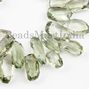 Shop Green Amethyst Beads! Green Amethyst Faceted Beads, Green Amethyst Beads, Green Amethyst Nuggets Shape Beads, Amethyst Beads, Amethyst Faceted Nuggets Shape Beads | Natural genuine chip Green Amethyst beads for beading and jewelry making.  #jewelry #beads #beadedjewelry #diyjewelry #jewelrymaking #beadstore #beading #affiliate #ad