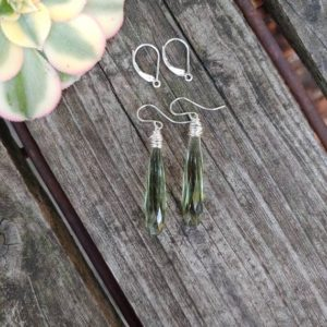 Shop Green Amethyst Earrings! Green amethyst quartz earrings. Green quartz earrings. Avail in rose gold,  gold or sterling silver | Natural genuine Green Amethyst earrings. Buy crystal jewelry, handmade handcrafted artisan jewelry for women.  Unique handmade gift ideas. #jewelry #beadedearrings #beadedjewelry #gift #shopping #handmadejewelry #fashion #style #product #earrings #affiliate #ad