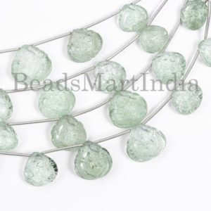 Shop Green Amethyst Beads! 5 Pieces Green Amethyst Flower Carving Beads, Green Amethyst Heart Beads, Green Amethyst Heart Shape Flower carving Beads, Amethyst Beads | Natural genuine other-shape Green Amethyst beads for beading and jewelry making.  #jewelry #beads #beadedjewelry #diyjewelry #jewelrymaking #beadstore #beading #affiliate #ad