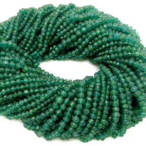 Shop Onyx Rondelle Beads! Green Onyx Rondelle Beads – ONE (1) STRAND of Gorgeous Dark Green Beads – (S104B9-02) | Natural genuine rondelle Onyx beads for beading and jewelry making.  #jewelry #beads #beadedjewelry #diyjewelry #jewelrymaking #beadstore #beading #affiliate #ad