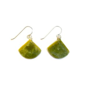 Shop Serpentine Jewelry! Green Serpentine Earrings | Green Jasper Earrings | Chartreuse Earrings | Triangle Earrings Dangle Lime Green Earrings | Green Drop Earrings | Natural genuine Serpentine jewelry. Buy crystal jewelry, handmade handcrafted artisan jewelry for women.  Unique handmade gift ideas. #jewelry #beadedjewelry #beadedjewelry #gift #shopping #handmadejewelry #fashion #style #product #jewelry #affiliate #ad