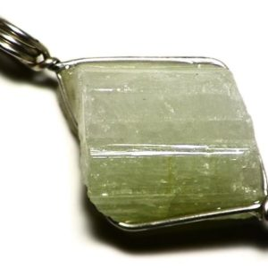 Shop Green Tourmaline Pendants! Green and White Tourmaline Crystal Pendant (31 ct) Pastel Green Tourmaline Necklace, Bicolor Raw Tourmaline Sterling Silver Wrap, Chunky Gem | Natural genuine Green Tourmaline pendants. Buy crystal jewelry, handmade handcrafted artisan jewelry for women.  Unique handmade gift ideas. #jewelry #beadedpendants #beadedjewelry #gift #shopping #handmadejewelry #fashion #style #product #pendants #affiliate #ad