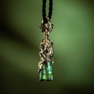 Shop Green Tourmaline Pendants! Necklace Green Tourmaline Magic Crystal Gold Pendant Ivy Natural Mens Raw Tourmaline Healing Gemstone Unisex Gold Necklace Fine Jewelry LOTR | Natural genuine Green Tourmaline pendants. Buy handcrafted artisan men's jewelry, gifts for men.  Unique handmade mens fashion accessories. #jewelry #beadedpendants #beadedjewelry #shopping #gift #handmadejewelry #pendants #affiliate #ad