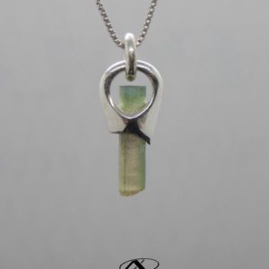 Shop Green Tourmaline Pendants! Tri Color Green Tourmaline, Silver Tourmaline Pendant, OOAK Pendant, Accessory, Anniversary Gift, Unisex Jewelry | Natural genuine Green Tourmaline pendants. Buy crystal jewelry, handmade handcrafted artisan jewelry for women.  Unique handmade gift ideas. #jewelry #beadedpendants #beadedjewelry #gift #shopping #handmadejewelry #fashion #style #product #pendants #affiliate #ad