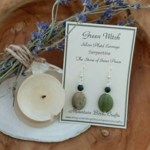 Shop Serpentine Earrings! GREEN WITCH – Serpentine earrings – Gemstone earrings – Beaded earrings  – Witchy gifts – Nature jewelry – Witch jewelry – Witch earrings | Natural genuine Serpentine earrings. Buy crystal jewelry, handmade handcrafted artisan jewelry for women.  Unique handmade gift ideas. #jewelry #beadedearrings #beadedjewelry #gift #shopping #handmadejewelry #fashion #style #product #earrings #affiliate #ad