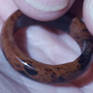 Shop Mahogany Obsidian Rings! Hand Made 10.5cts Solid Mahogany Obsidian Natural Stone Ring 2.1gram Stone Ring Size 7 Free Ship USA | Natural genuine Mahogany Obsidian rings, simple unique handcrafted gemstone rings. #rings #jewelry #shopping #gift #handmade #fashion #style #affiliate #ad