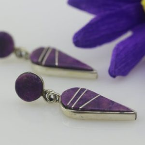 Shop Lepidolite Earrings! Handmade Lepidolite Earrings by Native American Navajo Artist Merle House | Natural genuine Lepidolite earrings. Buy crystal jewelry, handmade handcrafted artisan jewelry for women.  Unique handmade gift ideas. #jewelry #beadedearrings #beadedjewelry #gift #shopping #handmadejewelry #fashion #style #product #earrings #affiliate #ad