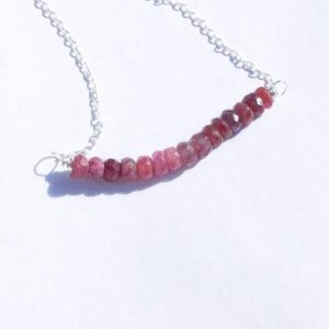 Shop Pink Sapphire Necklaces! Handmade Pink Sapphire Necklace   Natural genuine Pink Sapphire necklaces. Buy crystal jewelry, handmade handcrafted artisan jewelry for women.  Unique handmade gift ideas. #jewelry #beadednecklaces #beadedjewelry #gift #shopping #handmadejewelry #fashion #style #product #necklaces #affiliate #ad