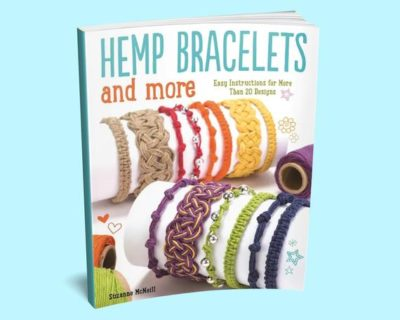 Shop Books About Hemp Jewelry Making! Hemp Bracelets and More Book – Hemp Jewelry Book – Macrame Jewelry Making | Shop jewelry making and beading supplies, tools & findings for DIY jewelry making and crafts. #jewelrymaking #diyjewelry #jewelrycrafts #jewelrysupplies #beading #affiliate #ad