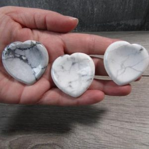 Shop Howlite Stones & Crystals! Howlite Heart Worry Stone E85 | Natural genuine stones & crystals in various shapes & sizes. Buy raw cut, tumbled, or polished gemstones for making jewelry or crystal healing energy vibration raising reiki stones. #crystals #gemstones #crystalhealing #crystalsandgemstones #energyhealing #affiliate #ad
