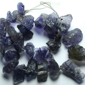Shop Iolite Chip & Nugget Beads! 7 Inches Natural Iolite Rough Beads 5mm To 18mm Raw Gemstone Beads Rare Iolite Beads Semi Precious Beads No3385 | Natural genuine chip Iolite beads for beading and jewelry making.  #jewelry #beads #beadedjewelry #diyjewelry #jewelrymaking #beadstore #beading #affiliate #ad