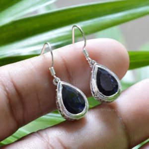 Shop Iolite Earrings! Natural Iolite Earrings, 925 Sterling Silver Earrings, Iolite Pear Earrings, Womens Earrings,Iolite Gemstone Jewelry, Modern Earring | Natural genuine Iolite earrings. Buy crystal jewelry, handmade handcrafted artisan jewelry for women.  Unique handmade gift ideas. #jewelry #beadedearrings #beadedjewelry #gift #shopping #handmadejewelry #fashion #style #product #earrings #affiliate #ad