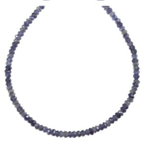 Shop Iolite Necklaces! Blue Iolite Necklace 14k Gold filled or sterling silver 18 19 Inch Chain Faceted  Natural Earthy Gemstones Solid Strand 4mm Blue Gray | Natural genuine Iolite necklaces. Buy crystal jewelry, handmade handcrafted artisan jewelry for women.  Unique handmade gift ideas. #jewelry #beadednecklaces #beadedjewelry #gift #shopping #handmadejewelry #fashion #style #product #necklaces #affiliate #ad
