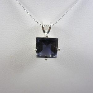 Shop Iolite Pendants! Iolite Pendant w/chain,Iolite Necklace,Iolite Gemstone Pendant,Iolite Gemstone Necklace,Blue Gemstone Necklace,Purple Gemstone Necklace   Natural genuine Iolite pendants. Buy crystal jewelry, handmade handcrafted artisan jewelry for women.  Unique handmade gift ideas. #jewelry #beadedpendants #beadedjewelry #gift #shopping #handmadejewelry #fashion #style #product #pendants #affiliate #ad