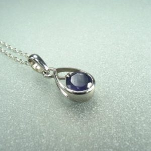 Shop Iolite Pendants! Iolite Pendant – Water Sapphire Gemstone Necklace, Iolite Necklace, Petite Iolite Drop Pendant, Blue Stone Pendant, Natural Iolite Gemstone   Natural genuine Iolite pendants. Buy crystal jewelry, handmade handcrafted artisan jewelry for women.  Unique handmade gift ideas. #jewelry #beadedpendants #beadedjewelry #gift #shopping #handmadejewelry #fashion #style #product #pendants #affiliate #ad