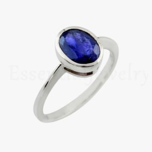 Shop Iolite Rings! Blue Iolite Stone Ring, Sterling Silver, Handmade Ring, Natural Gemstone, Single Band Ring, Faceted Gemstone, Affordable Ring, Rings On Sale | Natural genuine Iolite rings, simple unique handcrafted gemstone rings. #rings #jewelry #shopping #gift #handmade #fashion #style #affiliate #ad