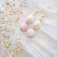 Isabel Pearl Earrings | Kunzite Crystal Earrings | Gift Earrings | Natural genuine Gemstone jewelry. Buy crystal jewelry, handmade handcrafted artisan jewelry for women.  Unique handmade gift ideas. #jewelry #beadedjewelry #beadedjewelry #gift #shopping #handmadejewelry #fashion #style #product #jewelry #affiliate #ad