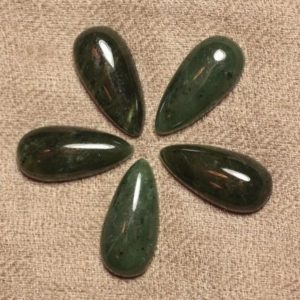 Shop Jade Cabochons! Stone – Canada Nephrite Jade cabochon – drop 25x12mm 4558550031006 | Natural genuine stones & crystals in various shapes & sizes. Buy raw cut, tumbled, or polished gemstones for making jewelry or crystal healing energy vibration raising reiki stones. #crystals #gemstones #crystalhealing #crystalsandgemstones #energyhealing #affiliate #ad
