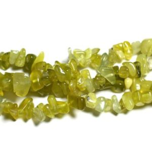 Shop Jade Chip & Nugget Beads! Wire 280pc Approx 89cm – Rock Chips 5-10mm Olive Jade Stone – Beads | Natural genuine chip Jade beads for beading and jewelry making.  #jewelry #beads #beadedjewelry #diyjewelry #jewelrymaking #beadstore #beading #affiliate #ad
