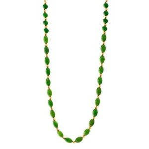 Green Jade and Gold Necklace/ Green Nephrite Jade Necklace/ Genuine Jade Jewelry/ Jade Beaded Necklace | Natural genuine Gemstone necklaces. Buy crystal jewelry, handmade handcrafted artisan jewelry for women.  Unique handmade gift ideas. #jewelry #beadednecklaces #beadedjewelry #gift #shopping #handmadejewelry #fashion #style #product #necklaces #affiliate #ad