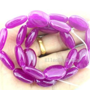 Shop Jade Bead Shapes! Bright Oval Jade Beads,Jade Beads,Light Purple Jade Stone,One Full Strand,Gemstone Beads—13*18mm—15.5 inches—-approx 22 Pieces–BJ031 | Natural genuine other-shape Jade beads for beading and jewelry making.  #jewelry #beads #beadedjewelry #diyjewelry #jewelrymaking #beadstore #beading #affiliate #ad