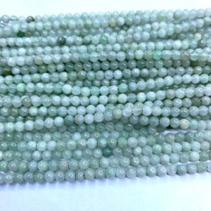Shop Jade Bead Shapes! Tiny Burma Green Jade Smooth Beads 2mm 3mm 4mm Natural Small Light Green Jadeite Gemstone Aqua Green Semi Precious Spacers Delicate Beads | Natural genuine other-shape Jade beads for beading and jewelry making.  #jewelry #beads #beadedjewelry #diyjewelry #jewelrymaking #beadstore #beading #affiliate #ad