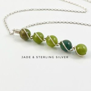 Shop Jade Pendants! Green Jade pendant, Sterling Silver. Genuine Natural Gemstone | Natural genuine Jade pendants. Buy crystal jewelry, handmade handcrafted artisan jewelry for women.  Unique handmade gift ideas. #jewelry #beadedpendants #beadedjewelry #gift #shopping #handmadejewelry #fashion #style #product #pendants #affiliate #ad