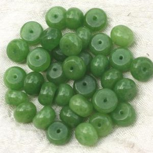 Shop Jade Rondelle Beads! 10pc – stone beads – Jade green 4558550021236 10x6mm Rondelles | Natural genuine rondelle Jade beads for beading and jewelry making.  #jewelry #beads #beadedjewelry #diyjewelry #jewelrymaking #beadstore #beading #affiliate #ad