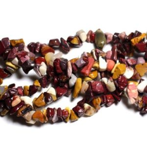 Shop Jasper Chip & Nugget Beads! Wire 89cm env – stone beads – Moukaite Jasper 250pc multicolored rock Chips 5-10mm | Natural genuine chip Jasper beads for beading and jewelry making.  #jewelry #beads #beadedjewelry #diyjewelry #jewelrymaking #beadstore #beading #affiliate #ad