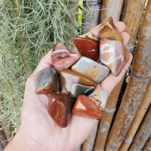 Desert Jasper, Polychrome Jasper, Tumbled Desert Jasper, Tumbled Polychrome Jasper | Natural genuine stones & crystals in various shapes & sizes. Buy raw cut, tumbled, or polished gemstones for making jewelry or crystal healing energy vibration raising reiki stones. #crystals #gemstones #crystalhealing #crystalsandgemstones #energyhealing #affiliate #ad