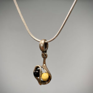 Shop Jet Necklaces! Jet and butterscotch creamy amber stone Pendant Necklace, autumn/winter collection, Christmas gift   Natural genuine Jet necklaces. Buy crystal jewelry, handmade handcrafted artisan jewelry for women.  Unique handmade gift ideas. #jewelry #beadednecklaces #beadedjewelry #gift #shopping #handmadejewelry #fashion #style #product #necklaces #affiliate #ad