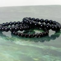 Black Jet Gagat Bracelet, Natural Gemstone Bracelet, Unisex Women Men Bracelet, 1 Beaded Bracelet 6mm, 8mm Or 10mm, gift For Her / him +gift Bag | Natural genuine Gemstone jewelry. Buy crystal jewelry, handmade handcrafted artisan jewelry for women.  Unique handmade gift ideas. #jewelry #beadedjewelry #beadedjewelry #gift #shopping #handmadejewelry #fashion #style #product #jewelry #affiliate #ad