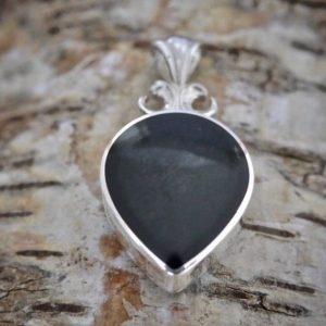 Shop Jet Pendants! Whitby Jet Pendant – Ammonite Fossil Pendant – Handmade sterling silver pendant – Double Sided – Silver Pendant   Natural genuine Jet pendants. Buy crystal jewelry, handmade handcrafted artisan jewelry for women.  Unique handmade gift ideas. #jewelry #beadedpendants #beadedjewelry #gift #shopping #handmadejewelry #fashion #style #product #pendants #affiliate #ad
