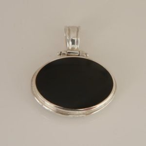 Shop Jet Pendants! Whitby Jet & Verdite Double Sided Pendant – Sterling Silver- Handmade   Natural genuine Jet pendants. Buy crystal jewelry, handmade handcrafted artisan jewelry for women.  Unique handmade gift ideas. #jewelry #beadedpendants #beadedjewelry #gift #shopping #handmadejewelry #fashion #style #product #pendants #affiliate #ad