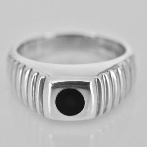 Shop Jet Rings! Whitby Jet ring -Silver – Handmade Gents Ring | Natural genuine Jet rings, simple unique handcrafted gemstone rings. #rings #jewelry #shopping #gift #handmade #fashion #style #affiliate #ad