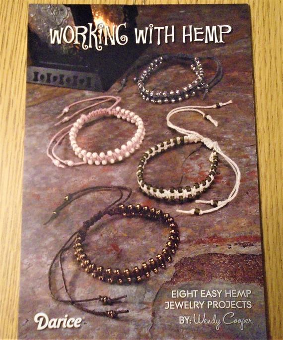 Jewelry Project Booklet – Working with Hemp – 8 Easy Hemp Jewelry Projects | Shop jewelry making and beading supplies, tools & findings for DIY jewelry making and crafts. #jewelrymaking #diyjewelry #jewelrycrafts #jewelrysupplies #beading #affiliate #ad
