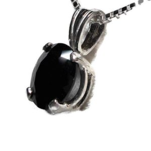 """Shop Spinel Pendants! Just reduced, Black spinel pendant, black gemstones, black silver, scalloped pendant, sterling silver pendant,  """"Mad Hatter"""" 