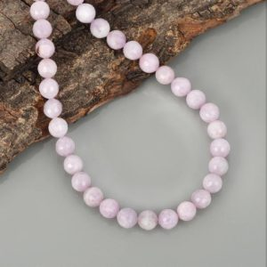 Shop Kunzite Necklaces! kunzite Necklace AAA Quality kunzite Necklace Faceted Round Beads Handmade Necklace kunzite Beads Jewelry Gift For Wife kunzite Gemstone | Natural genuine Kunzite necklaces. Buy crystal jewelry, handmade handcrafted artisan jewelry for women.  Unique handmade gift ideas. #jewelry #beadednecklaces #beadedjewelry #gift #shopping #handmadejewelry #fashion #style #product #necklaces #affiliate #ad