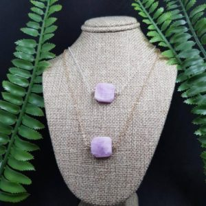 Shop Kunzite Necklaces! Kunzite necklace, pastel gemstone jewelry, lilac purple crystal necklace, sterling silver jewellery, boho chic style jewellery, heart chakra | Natural genuine Kunzite necklaces. Buy crystal jewelry, handmade handcrafted artisan jewelry for women.  Unique handmade gift ideas. #jewelry #beadednecklaces #beadedjewelry #gift #shopping #handmadejewelry #fashion #style #product #necklaces #affiliate #ad