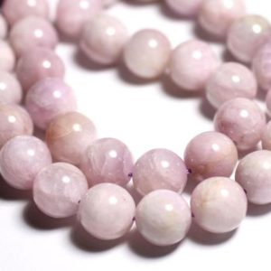 Shop Kunzite Beads! Thread 33pc approx 39cm – beads of stone – Kunzite pink balls 12mm | Natural genuine other-shape Kunzite beads for beading and jewelry making.  #jewelry #beads #beadedjewelry #diyjewelry #jewelrymaking #beadstore #beading #affiliate #ad