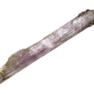Shop Kunzite Jewelry! Pink Kunzite Crystal Pendant 14k Gold (38 ct) Long Kunzite Stone Blade Necklace, Purple Crystal Pendant, Gem Rapier Jewelry, Crystal Needle | Natural genuine Kunzite jewelry. Buy crystal jewelry, handmade handcrafted artisan jewelry for women.  Unique handmade gift ideas. #jewelry #beadedjewelry #beadedjewelry #gift #shopping #handmadejewelry #fashion #style #product #jewelry #affiliate #ad