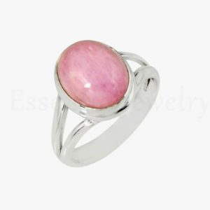 Shop Kunzite Rings! Cute Kunzite Ring, Oval Gemstone, Split Band Ring, Indianmade Ring, Gemstone Ring, Silver Ring, Cabochon Gemstone, Gift For Mom, Sale Ring | Natural genuine Kunzite rings, simple unique handcrafted gemstone rings. #rings #jewelry #shopping #gift #handmade #fashion #style #affiliate #ad