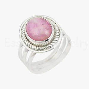 Shop Kunzite Rings! Pink Kunzite Ring, 925 Sterling Silver, Handmade Ring, Women's Jewelry, Twisted Bezel, Triple Band Ring, Boho Ring, Statement Ring, Artisan | Natural genuine Kunzite rings, simple unique handcrafted gemstone rings. #rings #jewelry #shopping #gift #handmade #fashion #style #affiliate #ad