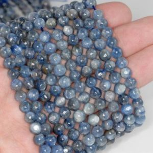 Shop Kyanite Chip & Nugget Beads! 5mm Kyanite Gemstone Grade AB Nugget Round 5mm Loose Beads 15.5 inch Full Strand (90184218-853) | Natural genuine chip Kyanite beads for beading and jewelry making.  #jewelry #beads #beadedjewelry #diyjewelry #jewelrymaking #beadstore #beading #affiliate #ad