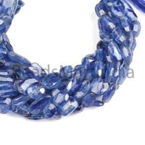 Shop Kyanite Chip & Nugget Beads! Kyanite Faceted Flat Nugget Shape Beads, Kyanite Nugget Shape Beads, Kyanite Faceted Nuggets, Kyanite Fancy Nugget Beads | Natural genuine chip Kyanite beads for beading and jewelry making.  #jewelry #beads #beadedjewelry #diyjewelry #jewelrymaking #beadstore #beading #affiliate #ad