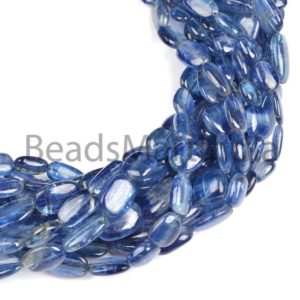 Shop Kyanite Chip & Nugget Beads! Kyanite Plain Nugget Shape Beads, Kyanite Smooth Nugget Shape Beads Straight Drill, Kyanite Flat Nuggets, Kyanite Fancy Nugget Beads | Natural genuine chip Kyanite beads for beading and jewelry making.  #jewelry #beads #beadedjewelry #diyjewelry #jewelrymaking #beadstore #beading #affiliate #ad