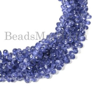 Shop Kyanite Faceted Beads! Kyanite Faceted Drop Shape Gemstone Natural Beads, Kyanite Faceted Beads, Kyanite Drop Shape Beads, Kyanite Natural Beads, Kyanite Beads | Natural genuine faceted Kyanite beads for beading and jewelry making.  #jewelry #beads #beadedjewelry #diyjewelry #jewelrymaking #beadstore #beading #affiliate #ad