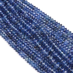 Shop Kyanite Rondelle Beads! Kyanite Plain Rondelle Shape Beads, Kyanite Smooth Rondelle Shape Beads, Kyanite Plain Beads, Kyanite Rondelle Beads, Kyanite Beads | Natural genuine rondelle Kyanite beads for beading and jewelry making.  #jewelry #beads #beadedjewelry #diyjewelry #jewelrymaking #beadstore #beading #affiliate #ad