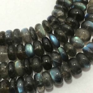 Shop Labradorite Necklaces! Natural Labradorite Smooth Rondelle 5mm to 10mm Beaded Necklace, Labradorite, Semiprecious Stone Beads, Gemstone Beads, Rondelle Beads | Natural genuine Labradorite necklaces. Buy crystal jewelry, handmade handcrafted artisan jewelry for women.  Unique handmade gift ideas. #jewelry #beadednecklaces #beadedjewelry #gift #shopping #handmadejewelry #fashion #style #product #necklaces #affiliate #ad