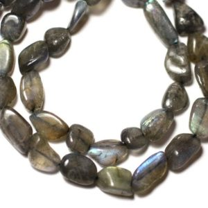 Shop Labradorite Bead Shapes! Thread 29pc approx 33cm – beads of stone – Labradorite 8-15mm – 8741140012608 Olives | Natural genuine other-shape Labradorite beads for beading and jewelry making.  #jewelry #beads #beadedjewelry #diyjewelry #jewelrymaking #beadstore #beading #affiliate #ad